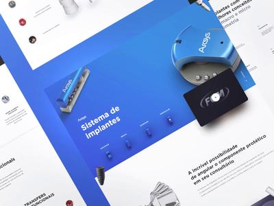 Dental implants landingpage interfaces interfacedesign ui  ux 3d motion ui design website uidesign interface product design ui uiux animation