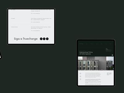Truechange Blog clean white design product design website uidesign uiux interface ui minimalist