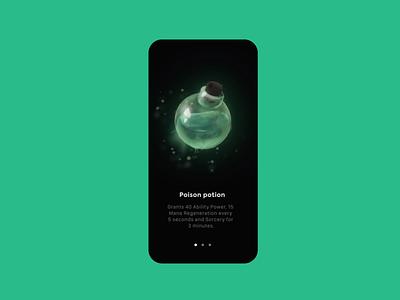 Potion concept art icon gamer poison potion item illustration design product design uidesign website uiux interface animation ui