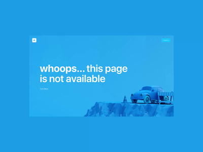 404 - Error page car and motion 🔊 turn on the sound web design illustration motion 404 page not found 404 car 3d uidesign website interface ui animation