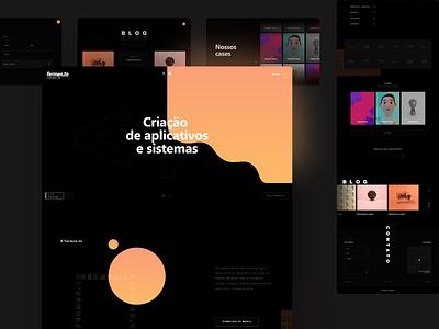 Agency Website gradient svg agency dark website design web design website product design daily ui uiux interface
