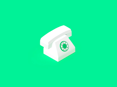 Tell motion jump ilustration motion gif isometric isometry 3d telephone icon uiux interface animation