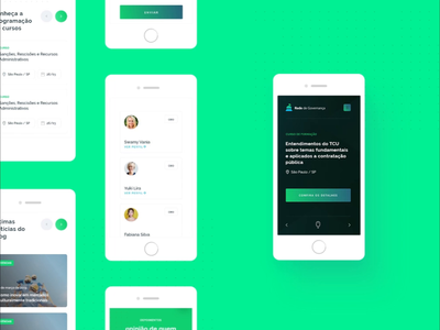 Mobile version website mobile ui responsive mobile green daily ui product design uidesign ui uiux interface animation