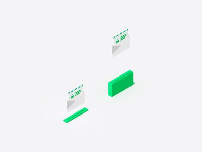 newsletter jump illustration icon newsletter website c4d clean motion gif animation