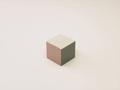 delivery party loop animation motion gif delivery box party c4d isometric 3d
