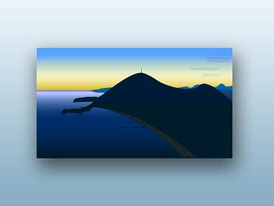 Budva crna gora montenegro illustration landscape design photoshop illustrator