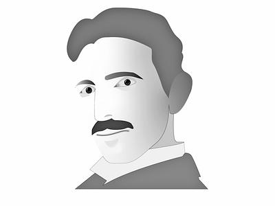 Nikola Tesla art design illustrator