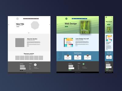 webDesign web figma photoshop design web design