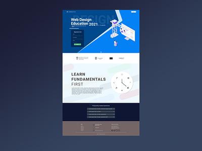 Landing Page - Education figma website education webdesign