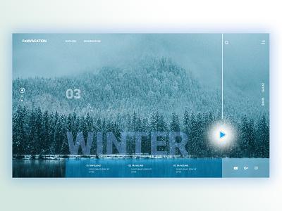 Winter vacation - web ux  ui figma design art winter webdevelopment web design