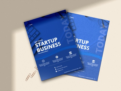 Business flyer illustrator photoshop design brand business flyer