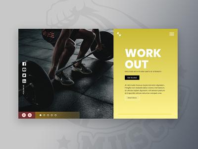 WorkOut-site design web desgin web ux  ui photoshop workout