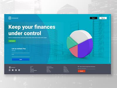 Financial-site web design financial photoshop design ux  ui figma