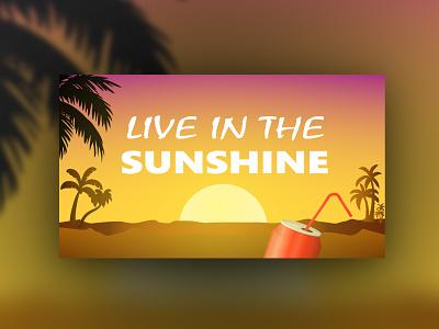Sunshine art design photoshop sunshine illustration illustrator
