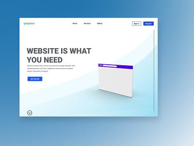 Creating custom website internet web photoshop ux  ui figma