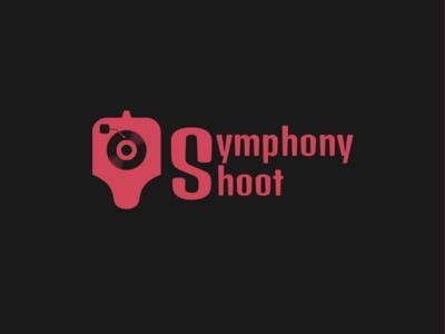 Symphony shoot Logo gun logo music logo vinyl disc player branding logo logo flat logo