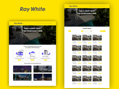 Ray White Redesign simplified exploration raywhite website design ui