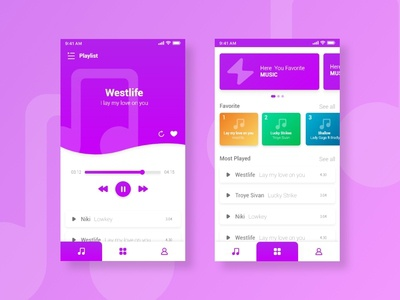 UI Design Music Player Exploration