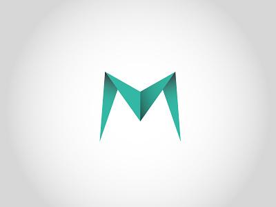 M technology logo hitech modern mobile logo green letter mark tech branding vector logo design