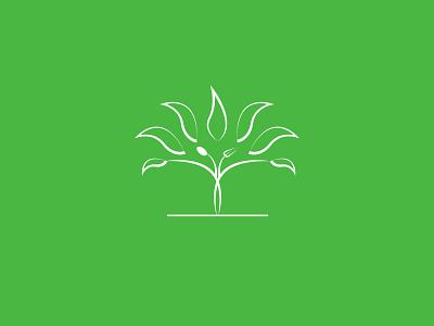 Restaurant logo plant restaurant color green leaf tree illustration branding vector logo design
