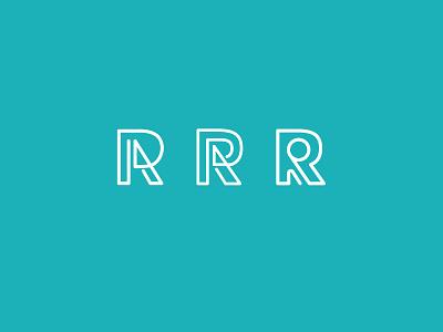 R monoline logo branding line wordmark logo logotype blue white monoline logo monoline color vector logo design