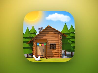 Weatherland App Icon ios appstore ipad iphone logo 3d cinema 4d c4d weather app icon app icon