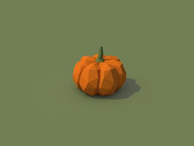 Pumpkin halloween autumn 3d cinema 4d c4d lowpoly low poly vegetables pumpkin