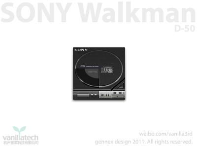 Sonywalkman D50 icon sony discman d50