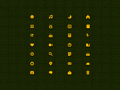 12px Icons small icons 12 px