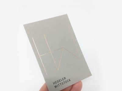 Hegeler Wittstock architects Branding