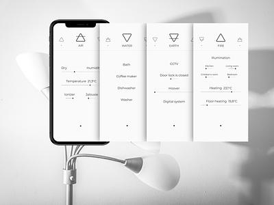 Smart House minimalism prototype mobile iu ux