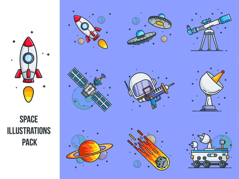 Space Illustrations Pack