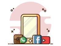 IPhone & Media Social