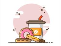 Donuts anda Coffee