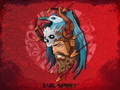 Evil Spirit design vector illustration