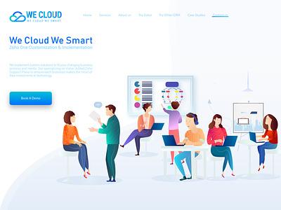 Digital Consulting Side Landing Page ui vector website web design illustration