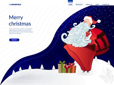Christmas Landing Page digital art website design home page illustration ui vector web illustration