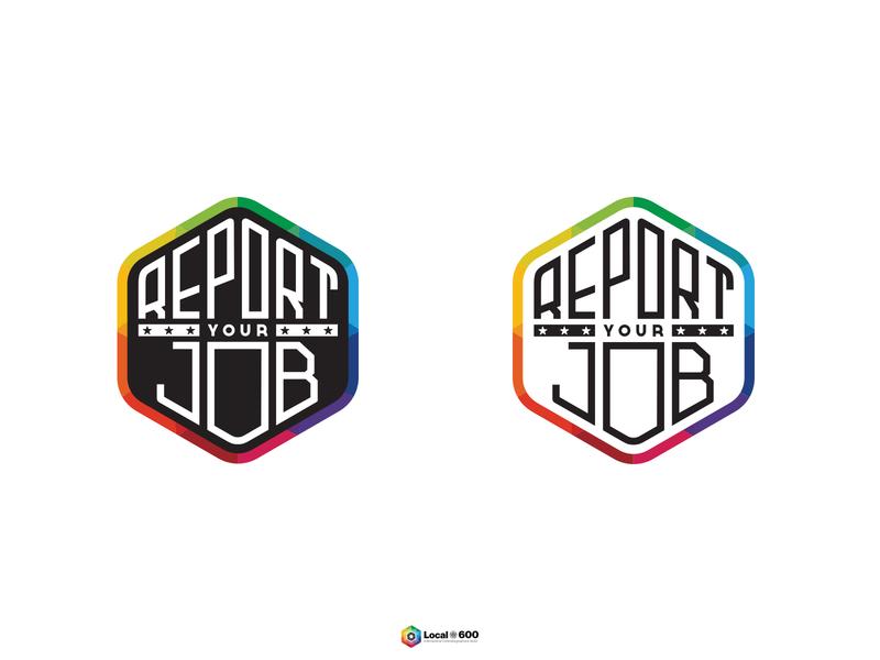 Report Your Job design vector icon identity lettering badge branding type logo