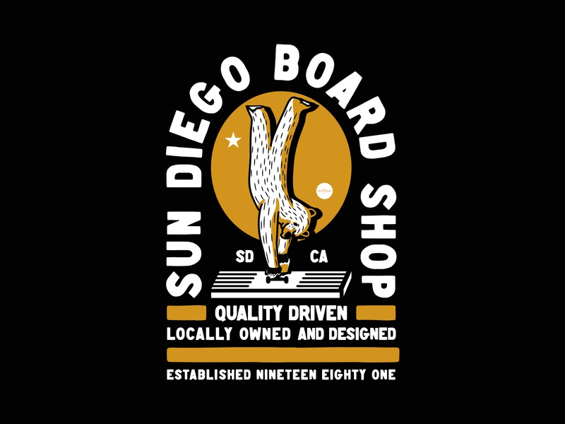 Locally Owned apparel vector illustration identity lettering badge branding type icon logo