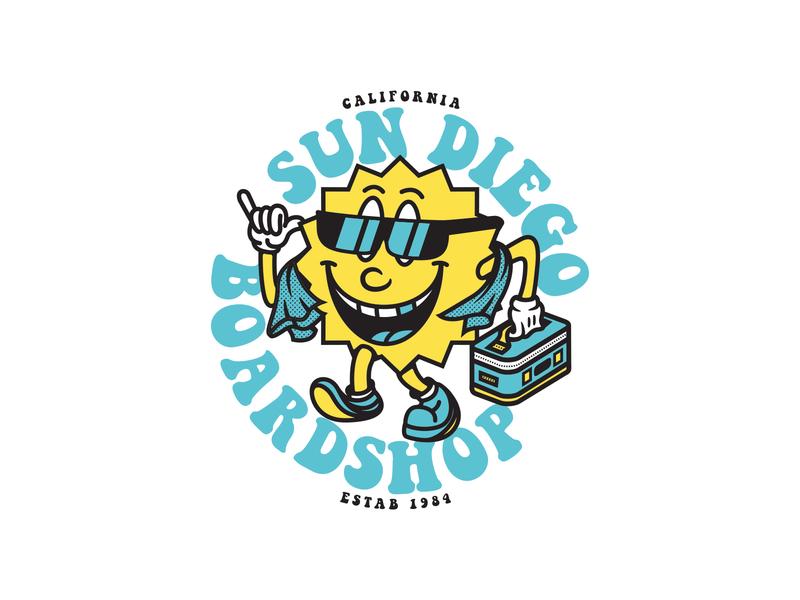 """Lil Sunny"" 🌞 design vector illustration identity lettering badge branding type icon logo"