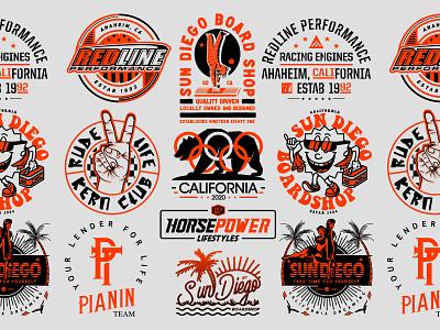 Logos / 2020 design vector illustration identity lettering badge branding type icon logo