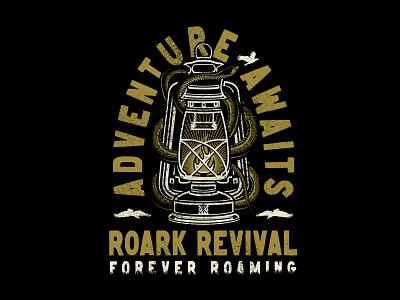Forever Roaming - Roark apparel vector illustration identity lettering badge branding type icon logo