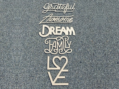 Words To Live By lasercut cut laser words logo letters type