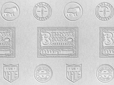 Bulldogge Books letterheads illustration identity lettering badge branding type logo