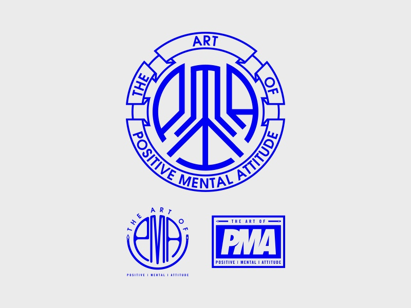 THE ART OF PMA pma typography illustration lettering badge type logo