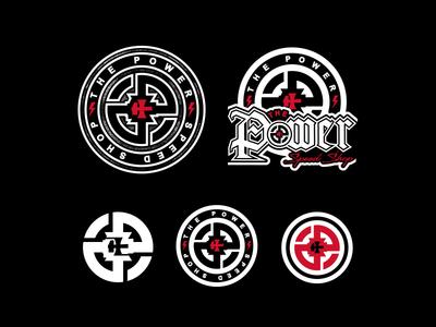 The Power Speed Shop design identity lettering badge branding icon logo