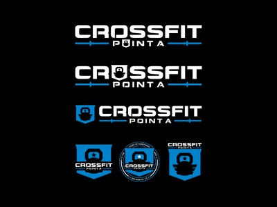 Crossfit Point A design illustration identity lettering badge branding type icon logo