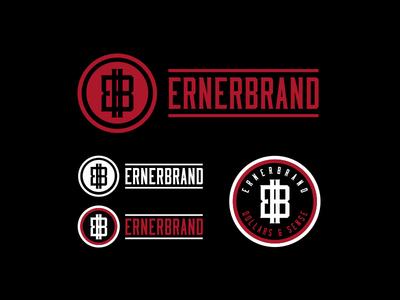 Erner Brand typography illustration identity lettering badge branding type icon logo