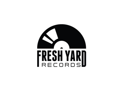 FRESH YARD RECORDS design typography vector identity lettering badge branding type icon logo