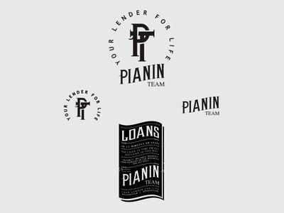 Pianin Team graphic design design identity lettering badge branding type icon logo